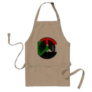 Paz en Sudán Delantal