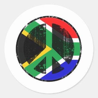 Paz en Suráfrica Pegatina Redonda