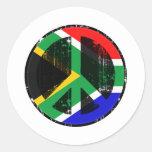 Paz en Suráfrica Pegatinas Redondas
