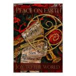 Paz en tarjeta de felicitación de la tierra