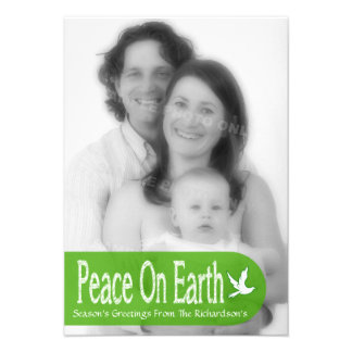 Paz en tarjeta de la foto del día de fiesta de la anuncios
