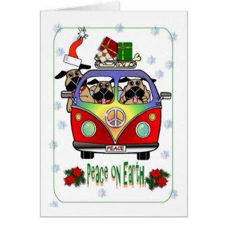 Paz en tarjeta de Navidad del barro amasado de la