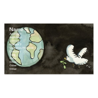 Paz en tarjeta de visita de la tierra