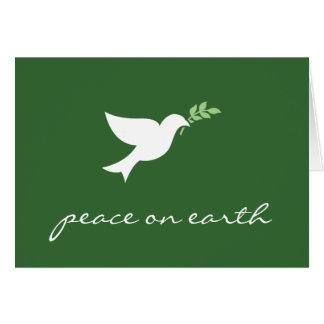 Paz en tarjeta del día de fiesta de la tierra