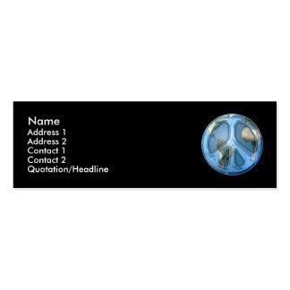 Paz en tarjeta del perfil de la tierra tarjeta personal