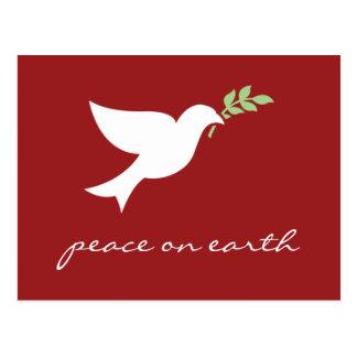 Paz en tarjeta plana del día de fiesta de la postales