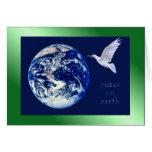 Paz en tarjetas de la tierra