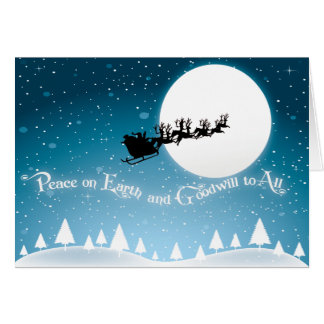 Paz en tarjetas de Navidad de la tierra