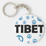 Paz en Tíbet Llaveros Personalizados