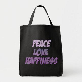 Paz en tiza bolsa tela para la compra