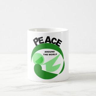 Paz en todo el mundo con imagen del vector taza