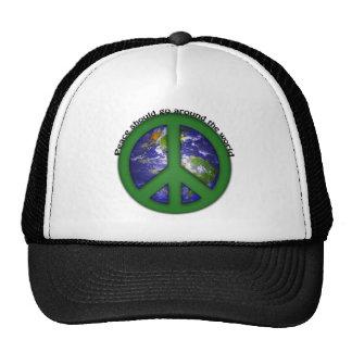 Paz en todo el mundo gorras