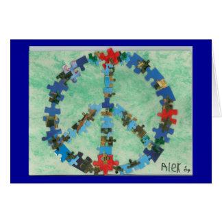 Paz en todo el mundo felicitación