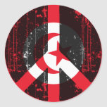 Paz en Túnez Pegatinas Redondas