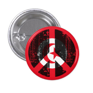 Paz en Túnez Pin Redondo 2,5 Cm