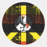 Paz en Uganda Pegatina Redonda