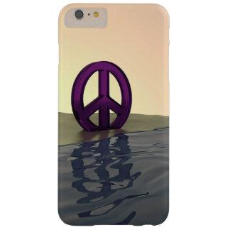 Paz en una playa funda de iPhone 6 plus barely there
