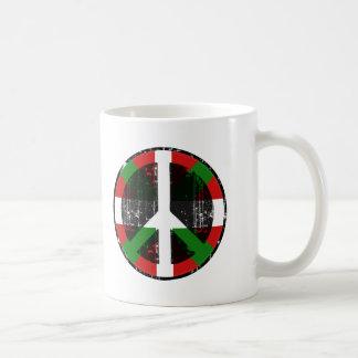 Paz en vasco taza de café