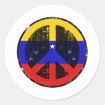 Paz en Venezuela Pegatina Redonda