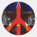 Paz en Yugoslavia Etiqueta Redonda