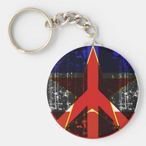 Paz en Yugoslavia Llaveros Personalizados