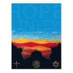 Paz, esperanza, unidad postales
