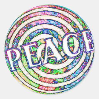 Paz espiral del círculo pegatina redonda