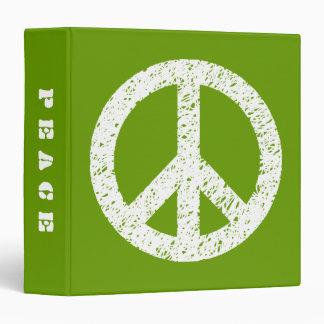 Paz estarcida garabato (el 1.5in) - blanco en Avoc