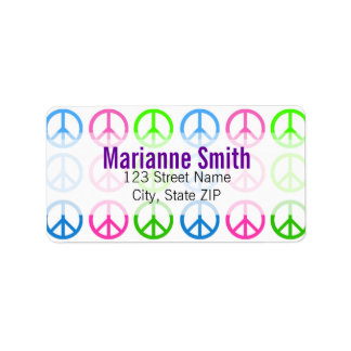 Paz Etiquetas De Dirección
