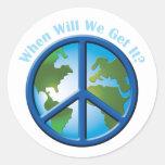 Paz Etiqueta Redonda