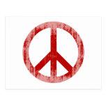 paz Faded.png rojo Tarjeta Postal