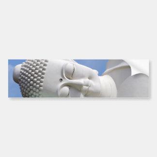 Paz feliz de reclinación el dormir de la estatua pegatina para auto