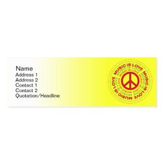 Paz - flaca tarjeta de visita