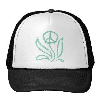 Paz flor-texturizada gorras
