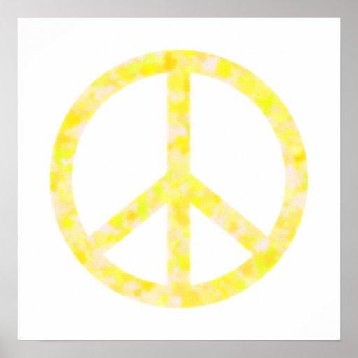 Paz floral amarilla impresiones