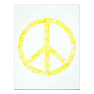 """Paz floral amarilla invitación 4.25"""" x 5.5"""""""