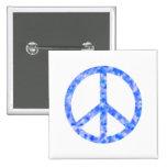 Paz floral azul pin
