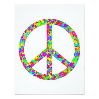 """Paz floral brillante invitación 4.25"""" x 5.5"""""""