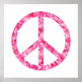 Paz floral rosada posters