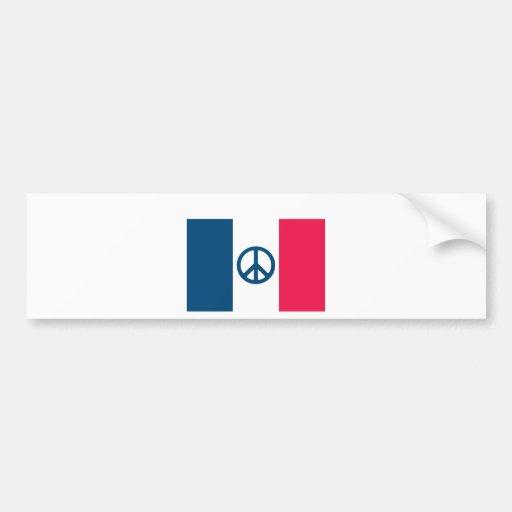 Paz francesa pegatina de parachoque