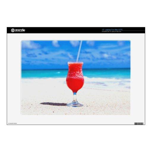 paz fresca de la playa de la bebida skins para portátiles