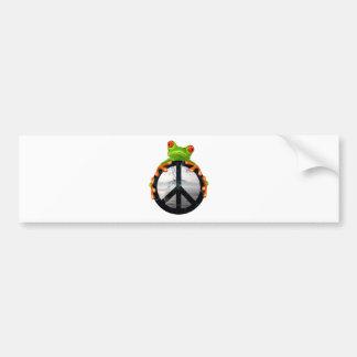 paz frog1 etiqueta de parachoque