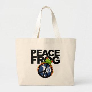 Paz Frog-2 Bolsa Lienzo