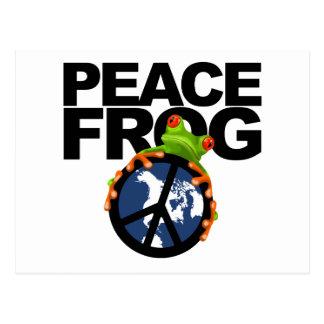 paz frog-2 tarjetas postales