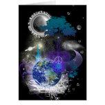 Paz geométrica cósmica tarjeta de felicitación