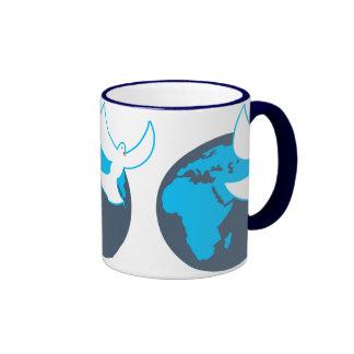 Paz global taza de dos colores