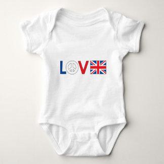 Paz Gran Bretaña del amor Playera