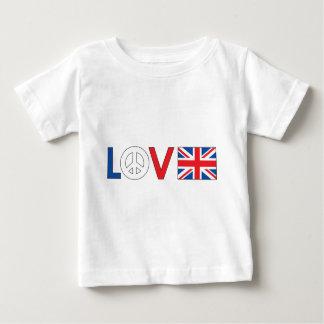 Paz Gran Bretaña del amor Playeras