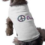 Paz hacia fuera camisetas de perro
