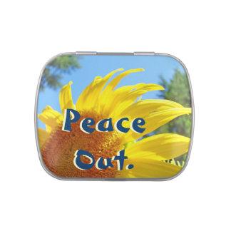 Paz hacia fuera. Las latas del caramelo del Belly  Jarrones De Caramelos